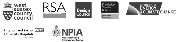 Public sector and non-profit logos